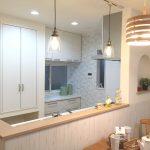 双柳キッチン照明付